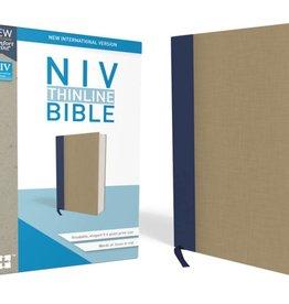NIV Thinline BIble - Blue/Tan