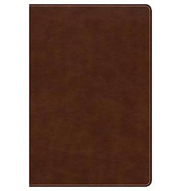 CSB Large Print Ultrathin Reference Bible - British Tan LeatherTouch