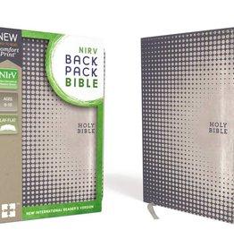 NIRV Backpack Bible Blue Silver