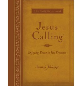 SARAH YOUNG Jesus Calling Large Print - Brown Leather