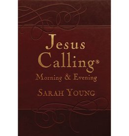 Sarah Young Jesus Calling Morning & Evening - Brown Leather