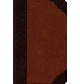 ESV Large Print Thinline Bible - TruTone, Brown/Cordovan, Portfolio Design