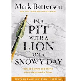 MARK BATTERSON In A Pit With A Lion On A Snowy Day
