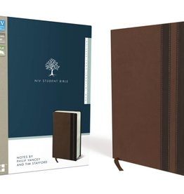 NIV Student Bible - Walnut/Espresso