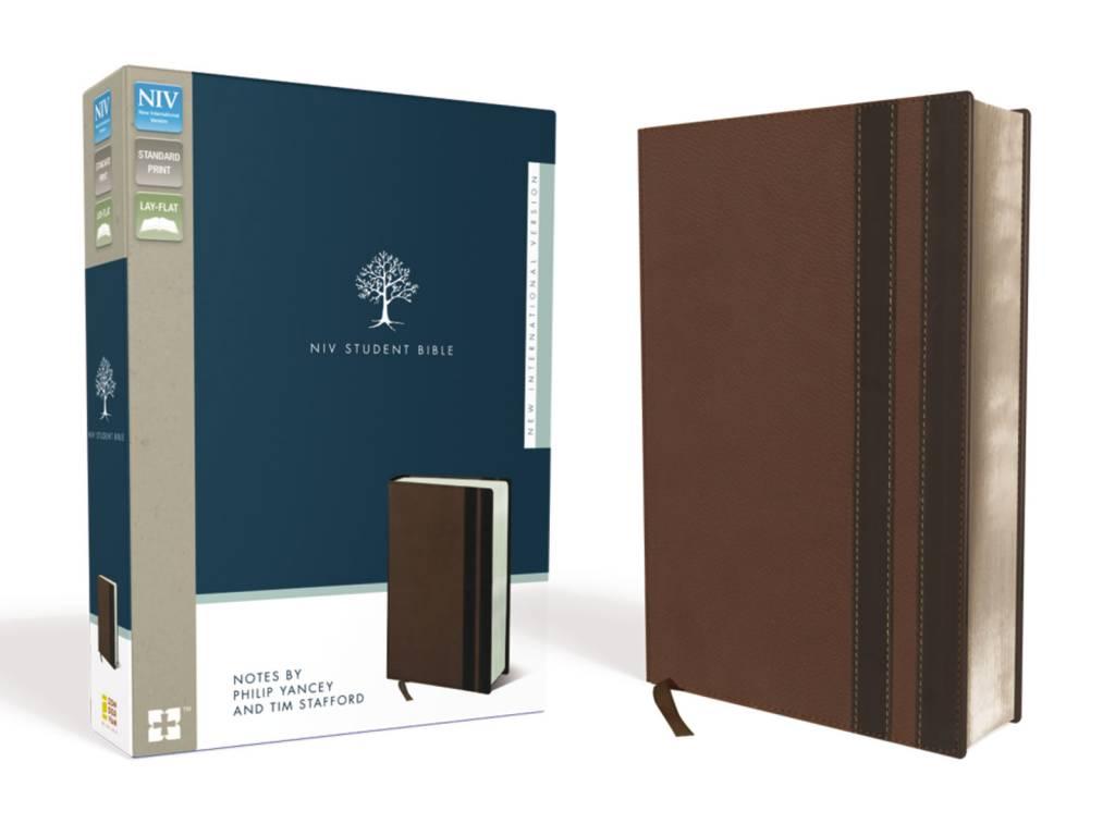 NIV Student Bible - Walnut/Espresso