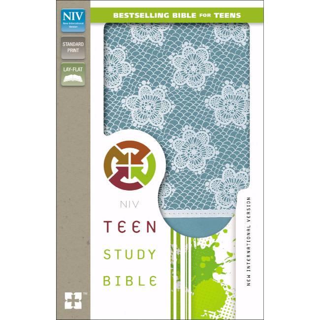 NIV Teen Study Bible - French Teal