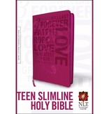 NLT Teen Slimline Holy Bible - Hot Pink