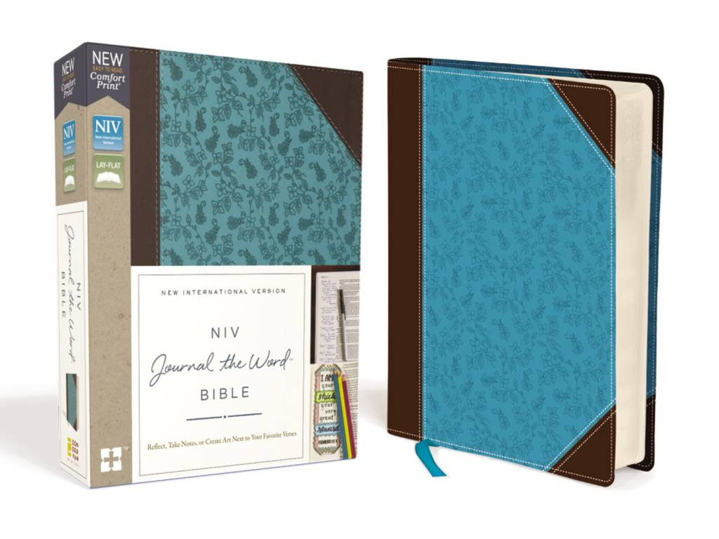 NIV Journal The Word Bible Leathersoft Brown Blue