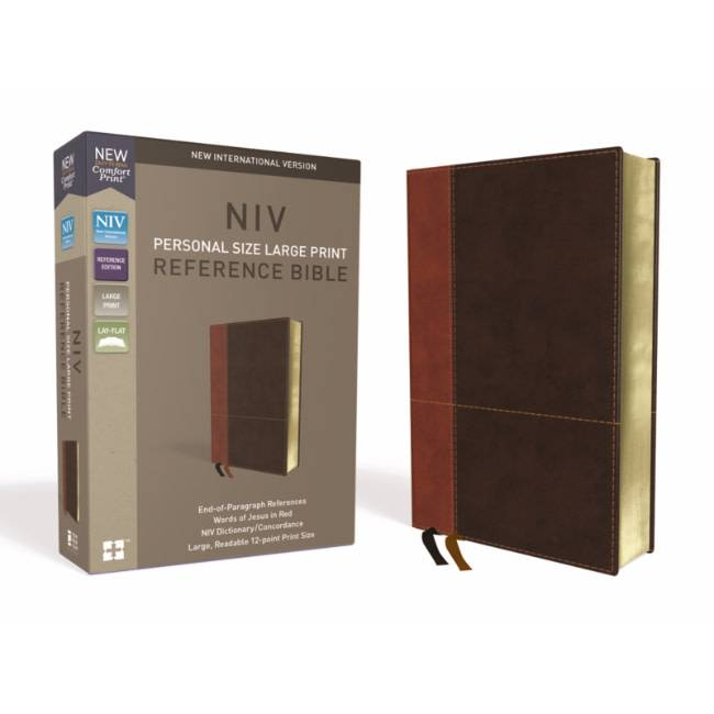 NIV Large Print Reference Bible - Brown