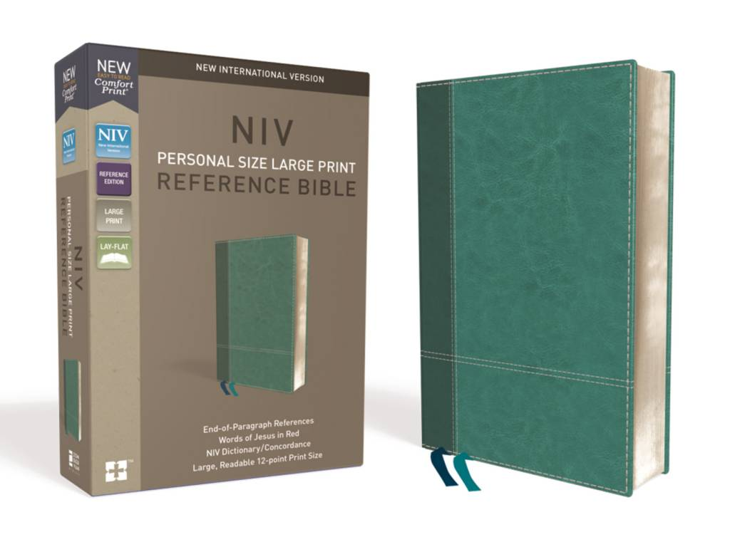 NIV Large Print Reference Bible - Turquoise