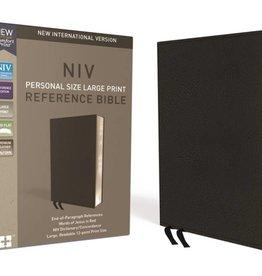 NIV Large Print Thinline Reference Bible - Black