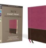 NIV Giant Print Reference Bible - Pink/Brown