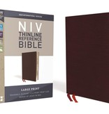 NIV Large Print Thinline Reference Bible - Burgundy