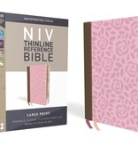 NIV Thinline Reference Bible - Pink/Brown