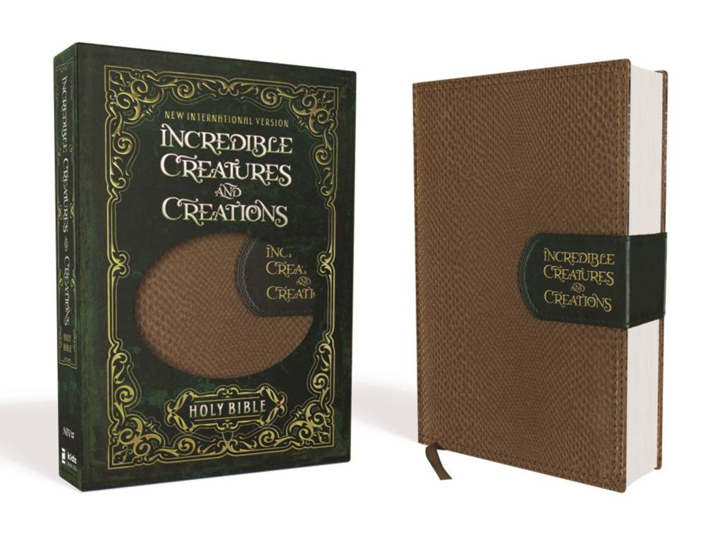 NIV Incredible Creatures And Creations Bible - Tan/Green