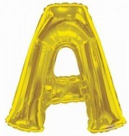 """34"""" Jumbo Letter A Balloon Gold"""