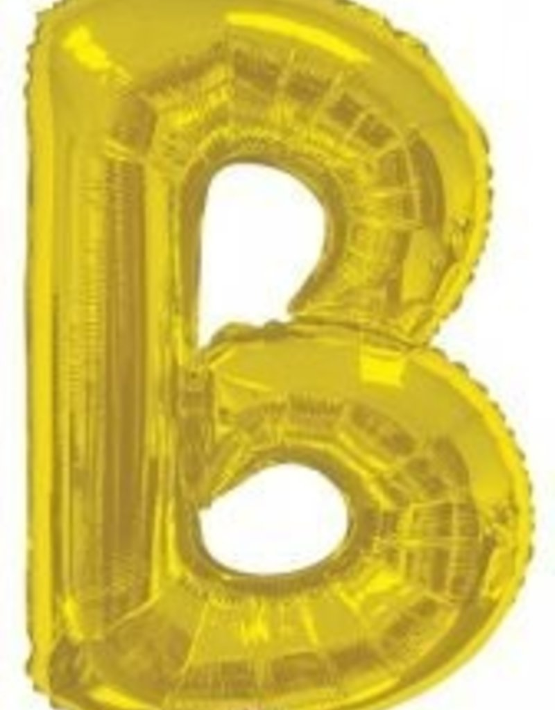 """34"""" Jumbo Letter B Balloon Gold"""