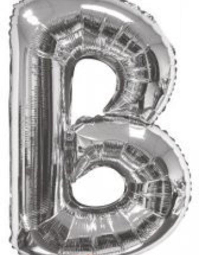 """34"""" Jumbo Letter B Balloon Silver"""