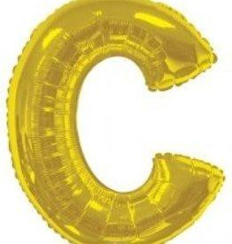 """34"""" Jumbo Letter C Balloon Gold"""