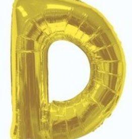 """34"""" Jumbo Letter D Balloon Gold"""