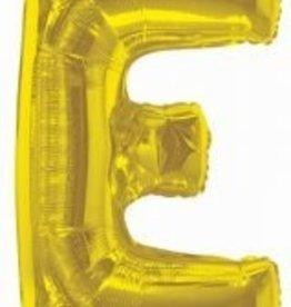 "34"" Jumbo Letter E Balloon Gold"