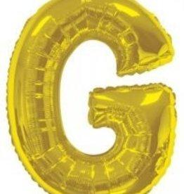 """34"""" Jumbo Letter G Balloon Gold"""