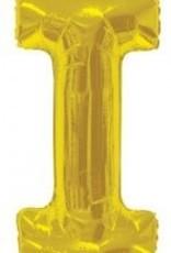 """34"""" Jumbo Letter I Balloon Gold"""