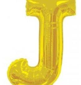 """34"""" Jumbo Letter J Balloon Gold"""