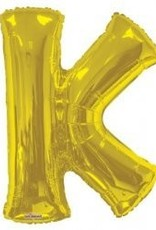 "34"" Jumbo Letter K Balloon Gold"
