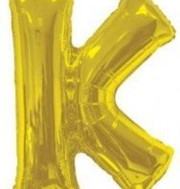 """34"""" Jumbo Letter K Balloon Gold"""