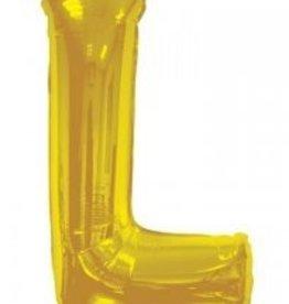 """34"""" Jumbo Letter L Balloon Gold"""