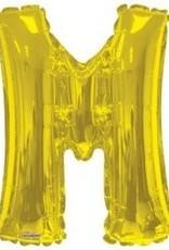 """34"""" Jumbo Letter M Balloon Gold"""