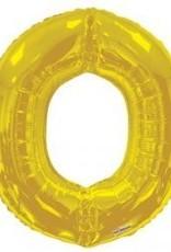 """34"""" Jumbo Letter O Balloon Gold"""