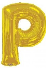 "34"" Jumbo Letter P Balloon Gold"