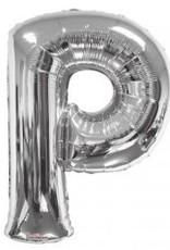 """34"""" Jumbo Letter P Balloon Silver"""