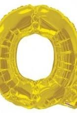 """34"""" Jumbo Letter Q Balloon Gold"""