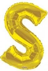 """34"""" Jumbo Letter S Balloon Gold"""