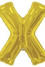 "34"" Jumbo Letter X Balloon Gold"