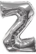 "34"" Jumbo Letter Z Balloon Silver"