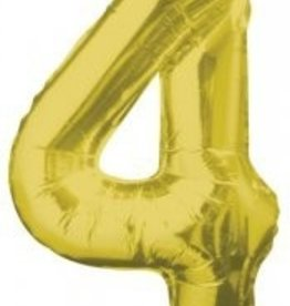 "34"" Gold Jumbo Number 4 Balloon"
