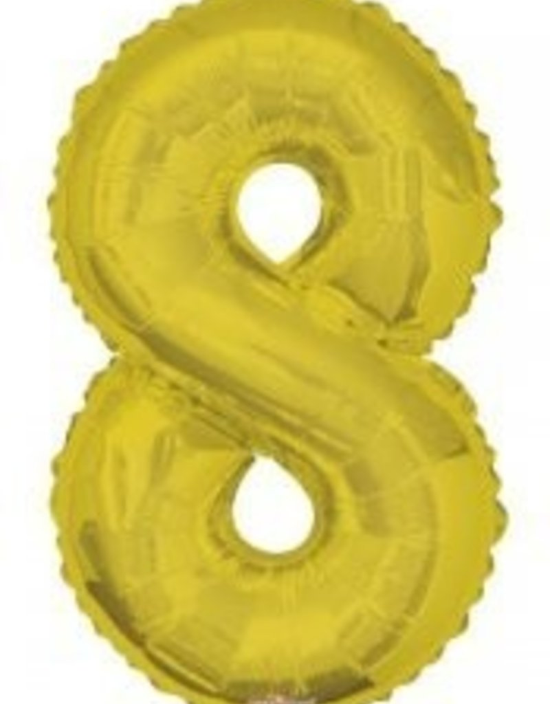 "34"" Gold Jumbo Number 8 Balloon"