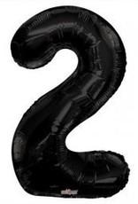 """34"""" Black Jumbo Number 2 Balloon"""