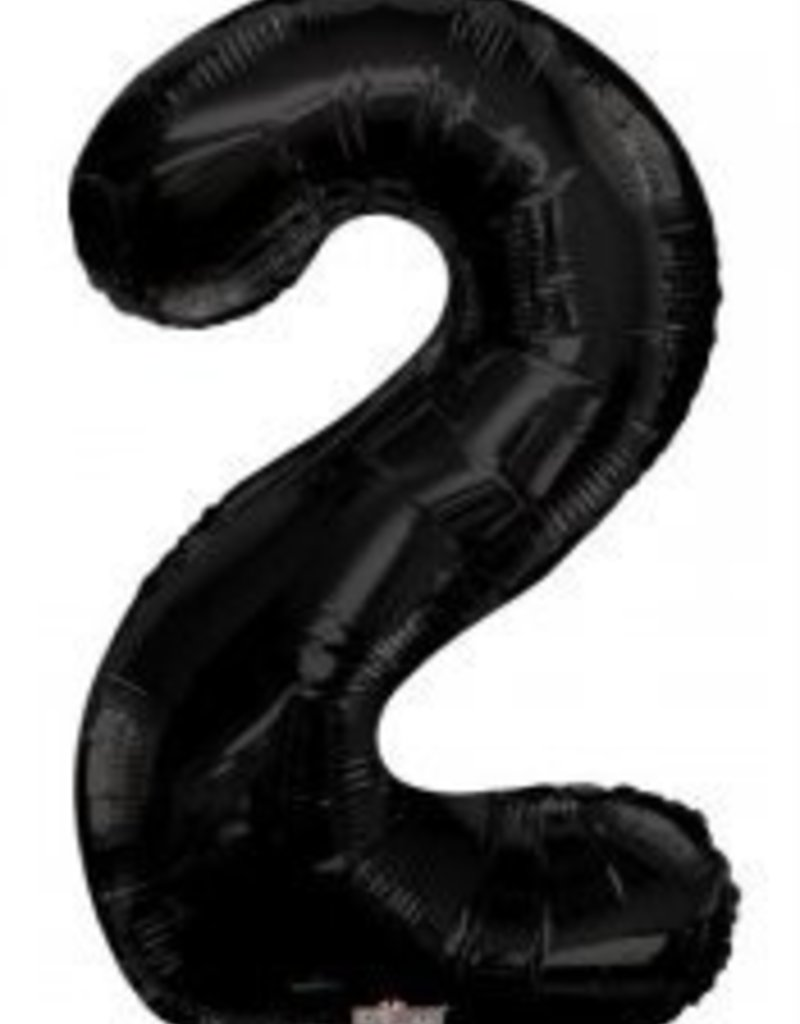"34"" Black Jumbo Number 2 Balloon"
