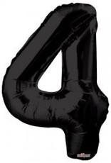 """34"""" Black Jumbo Number 4 Balloon"""