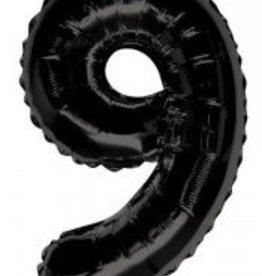 """34"""" Black Jumbo Number 9 Balloon"""