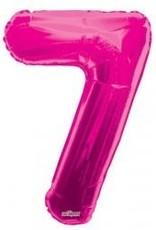 """34"""" Pink Jumbo Number 7 Balloon"""
