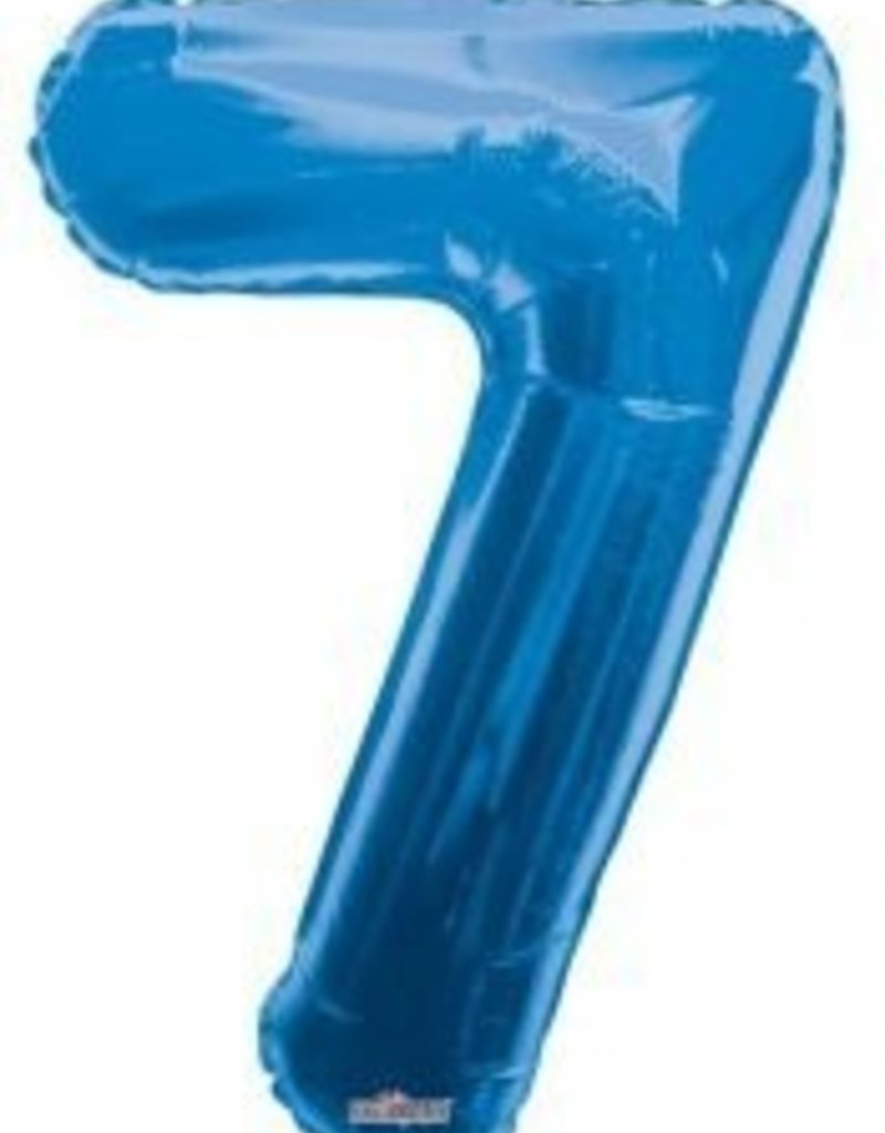 """34"""" Blue Jumbo Number 7 Balloon"""