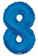 """34"""" Blue Jumbo Number 8 Balloon"""