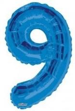 """34"""" Blue Jumbo Number 9 Balloon"""