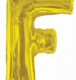 """34"""" Gold Jumbo Letter F Balloon"""
